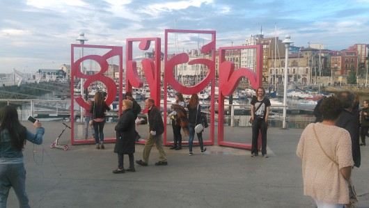 Turistbild i Gijón